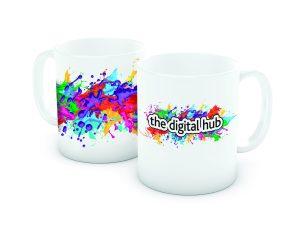 A sample of our digital printing on ceramic mugs
